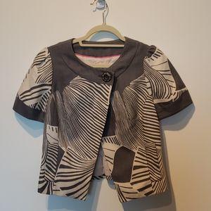 Anthropologie brand Short sleeved Grey blazer